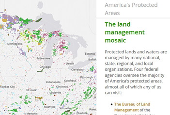 One Of The Uses Of Pad Us Is For Explaining Public Lands And Protected Areas To Very Broad Audiences The Story Maps Team At Esri Developed A Web