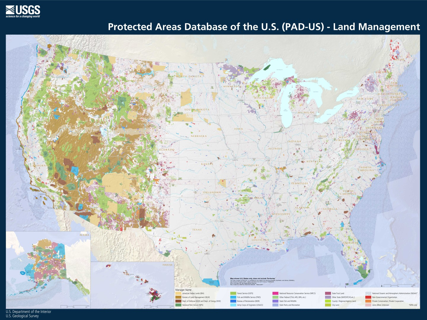 New PAD-US 1 4 Maps for Download, Printing « Protected Lands