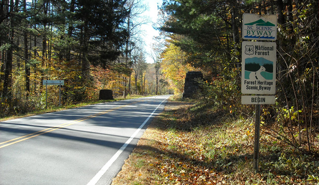 Image of a national scenic byway