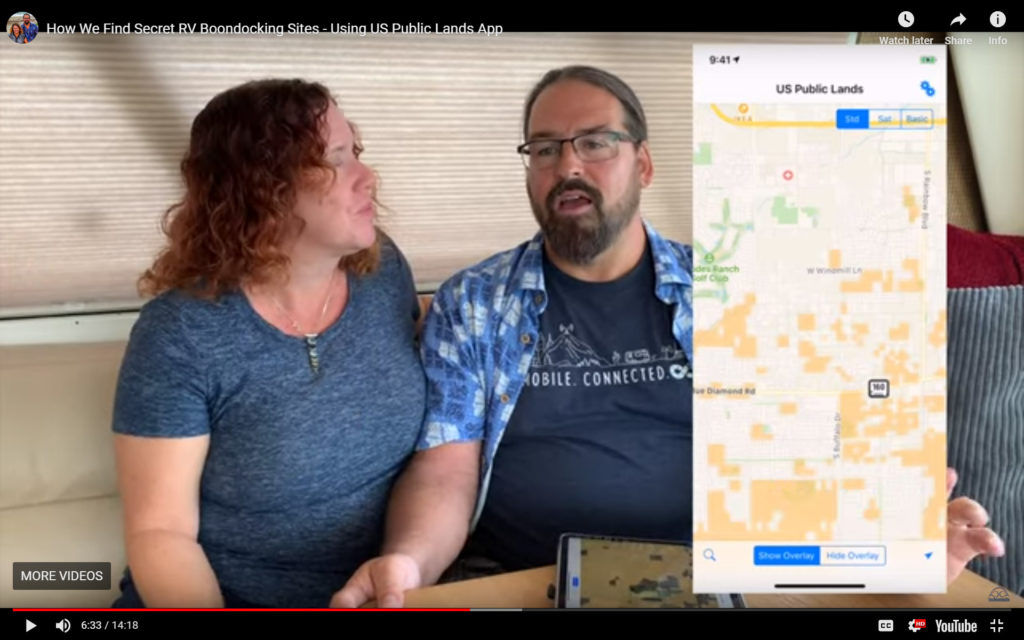 Screen cap of video, two people