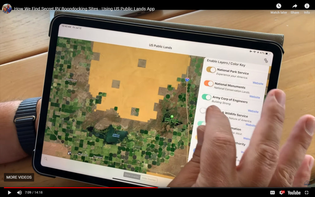 Image of iPAD with map